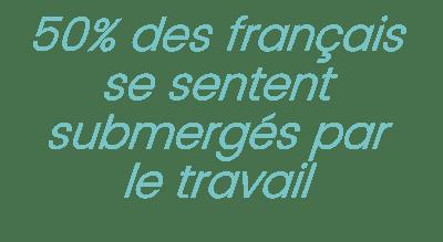 50% des français se sentent submergés par le travail