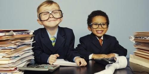 enfants au bureau